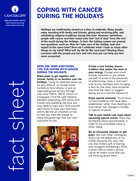 Thumbnail of the PDF version of Coping With Cancer During the Holidays