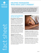 Thumbnail of the PDF version of Helping Teenagers Who Have Lost a Parent