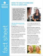 Thumbnail of the PDF version of How to Help Someone Who is Grieving