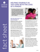 Thumbnail of the PDF version of Helping Yourself As You Cope with the Loss of a Parent