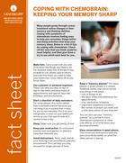 Thumbnail of the PDF version of Coping with Chemobrain: Keeping Your Memory Sharp