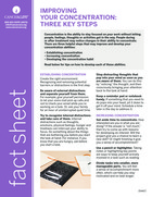 Thumbnail of the PDF version of Improving Your Concentration: Three Key Steps