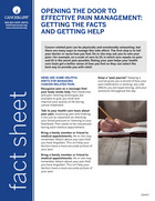 Thumbnail of the PDF version of Opening the Door to Effective Pain Management: Getting the Facts and Getting Help