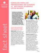 Thumbnail of the PDF version of Consejos para los proveedores de cuidado: ¿Cómo puede ayudarse usted mismo?