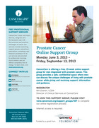 107 prostate cancer patient support group