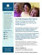 146 la vida despues del cancer grupo de apoyo para mujeres diagnosticadas con cancer y de habla hispana