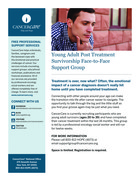 160 young adult post treatment survivorship support group