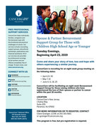 163 spouse partner bereavement support group for those with children high school age or younger