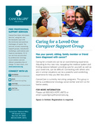 25 caregivers and loved ones support group